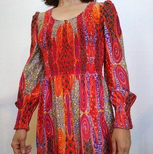 Vintage Hippie Polyester Rayon Skirt